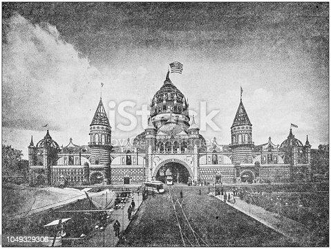 Antique photograph: Corn Palace, Sioux City, Iowa, USA