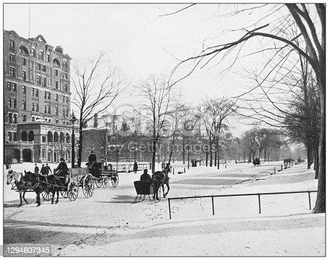Antique photograph: Euclid Avenue, Cleveland, Ohio