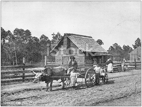 Antique photograph: Farm in south USA