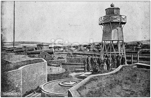 Antique photograph: Fort Winfield Scott, San Francisco Harbor