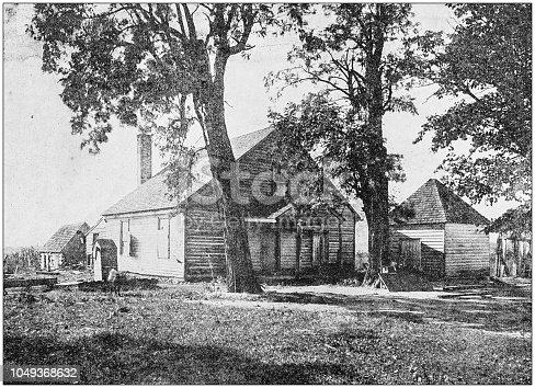 Antique photograph: House, Richmond, USA