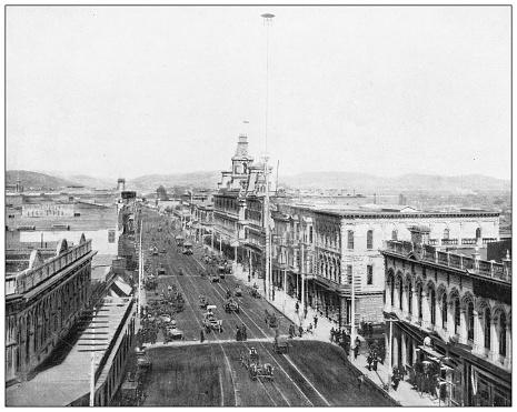 Antique photograph: Main Street, Los Angeles, California