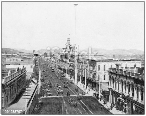istock Antique photograph: Main Street, Los Angeles, California 1294588797