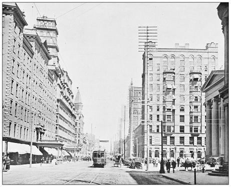 Antique photograph: Main Street, Rochester, New York