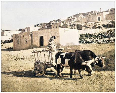 Antique photograph of American landmarks: Pueblo Laguna, New Mexico