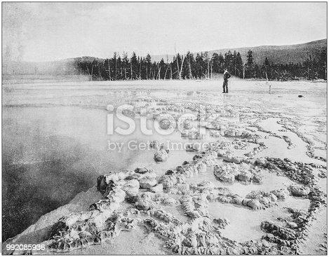 Antique photograph of America's famous landscapes: Biscuit Basin