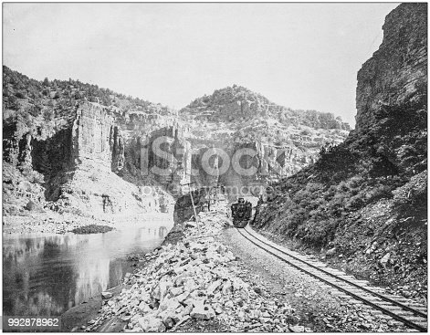 Antique photograph of America's famous landscapes: Canyon of Grand River, Colorado