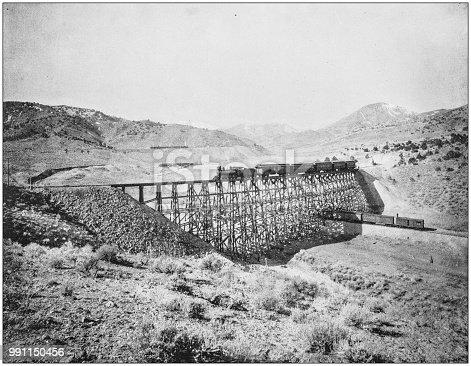 Antique photograph of America's famous landscapes: Double Circle, Eureka, Utah