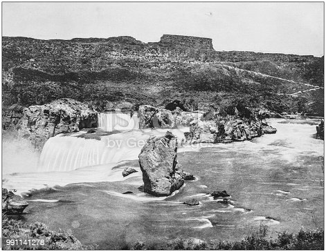 Antique photograph of America's famous landscapes: Eagle Rock, Shoshone Falls