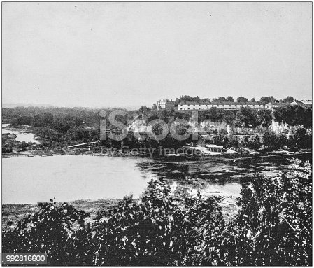 Antique photograph of America's famous landscapes: Fort Snelling, Mississippi