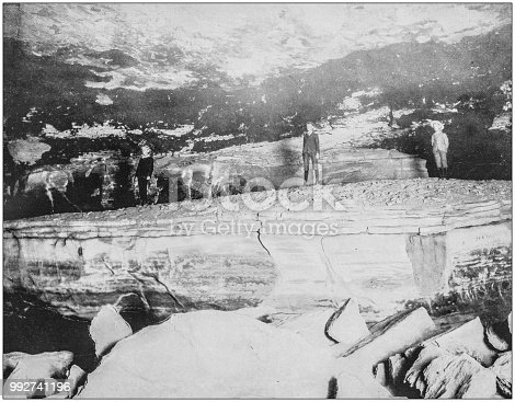 Antique photograph of America's famous landscapes: Giant's Coffin, Mammoth Cave, Kentucky