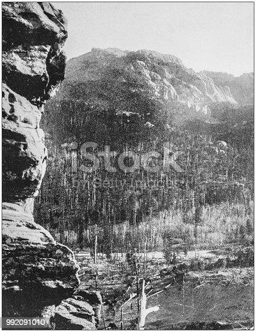 Antique photograph of America's famous landscapes: Harney's Peak, Black Hills