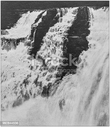 Antique photograph of America's famous landscapes: Kakabeka Falls, Fort Williams, Thunder Bay, Lake Superior