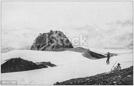 Antique photograph of America's famous landscapes: Mount Tacoma, Oregon