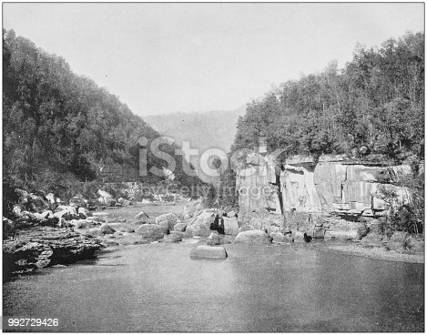 Antique photograph of America's famous landscapes: New River, West Virginia