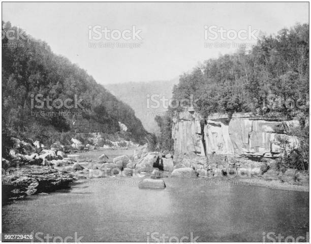 Antique photograph of America's famous landscapes: New River, West Virginia