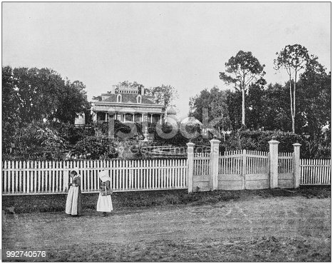Antique photograph of America's famous landscapes: Plantation Home, Mississippi