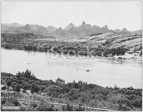 Antique photograph of America's famous landscapes: Rio Grande