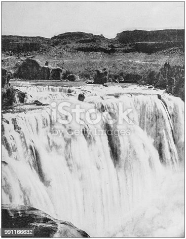 Antique photograph of America's famous landscapes: Shoshone Falls