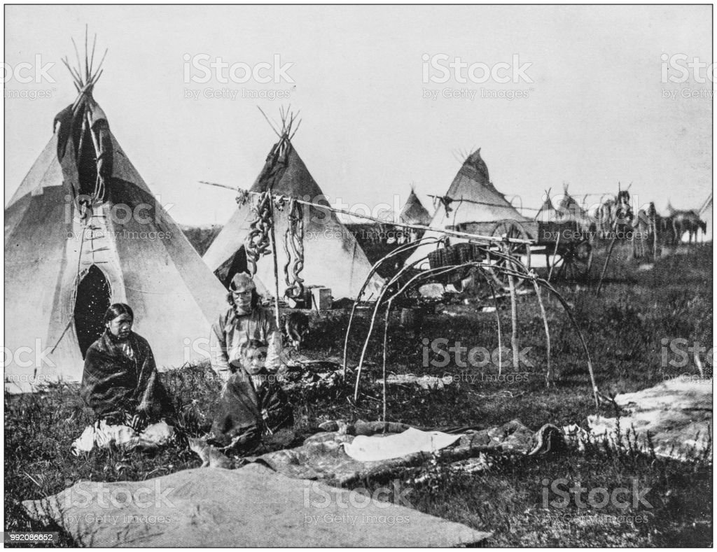 Antique Photograph Of Americas Famous Landscapes Sioux