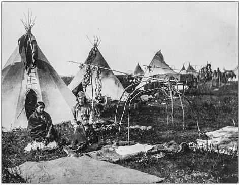 Antique photograph of America's famous landscapes: Sioux Indians, Dakota