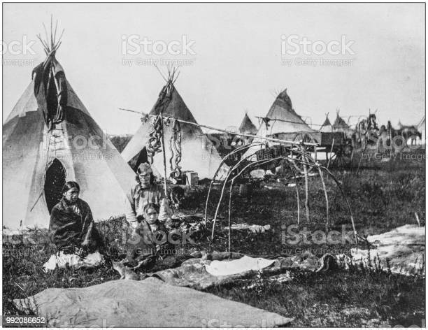 Antique photograph of America's famous landscapes: Sioux Indians, Dakota
