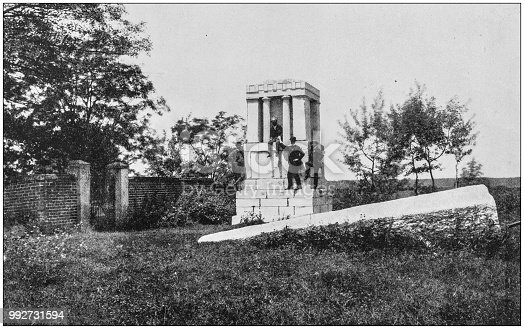 Antique photograph of America's famous landscapes: Tomb of Washington's mother, Fredericksburg, Virginia