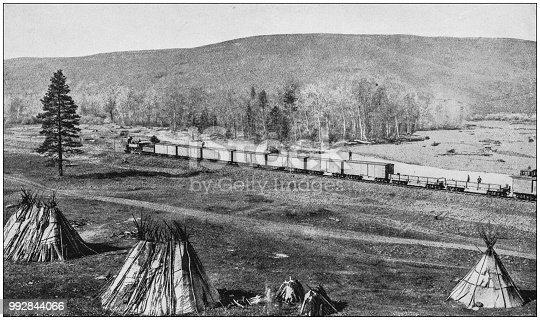 Antique photograph of America's famous landscapes: Umatilla Indian Camp, Oregon