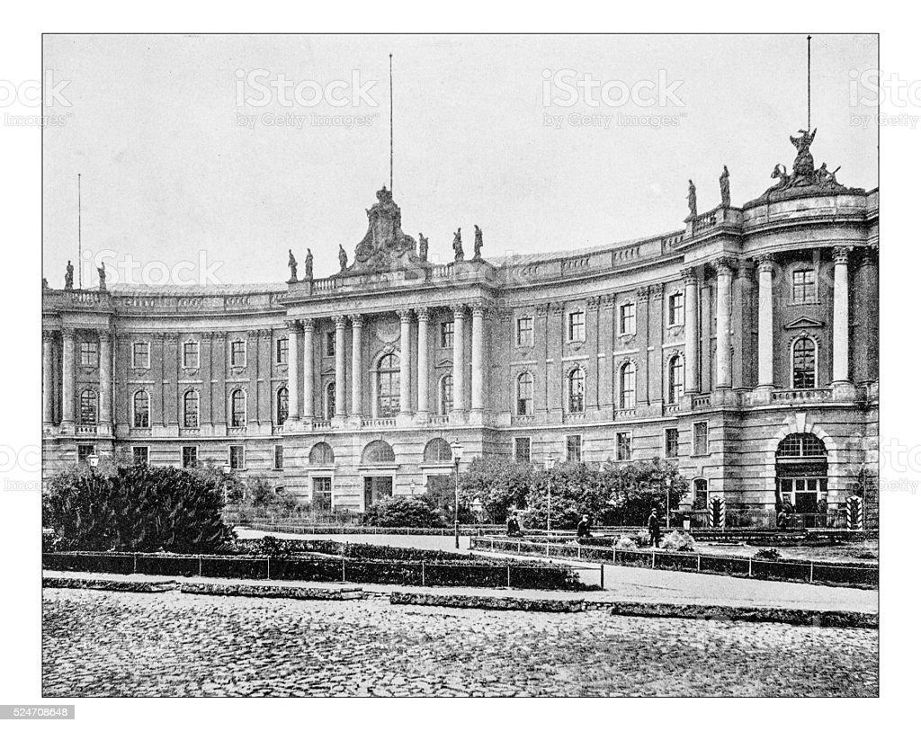Alte Foto von Staatsbibliothek zu Berlin während des 19. Jahrhunderts – Foto
