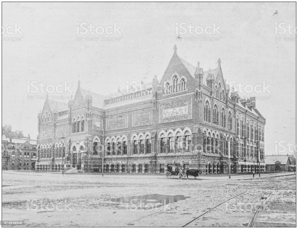 Antique photograph of Boston, Massachusetts, USA: Copley Square stock photo