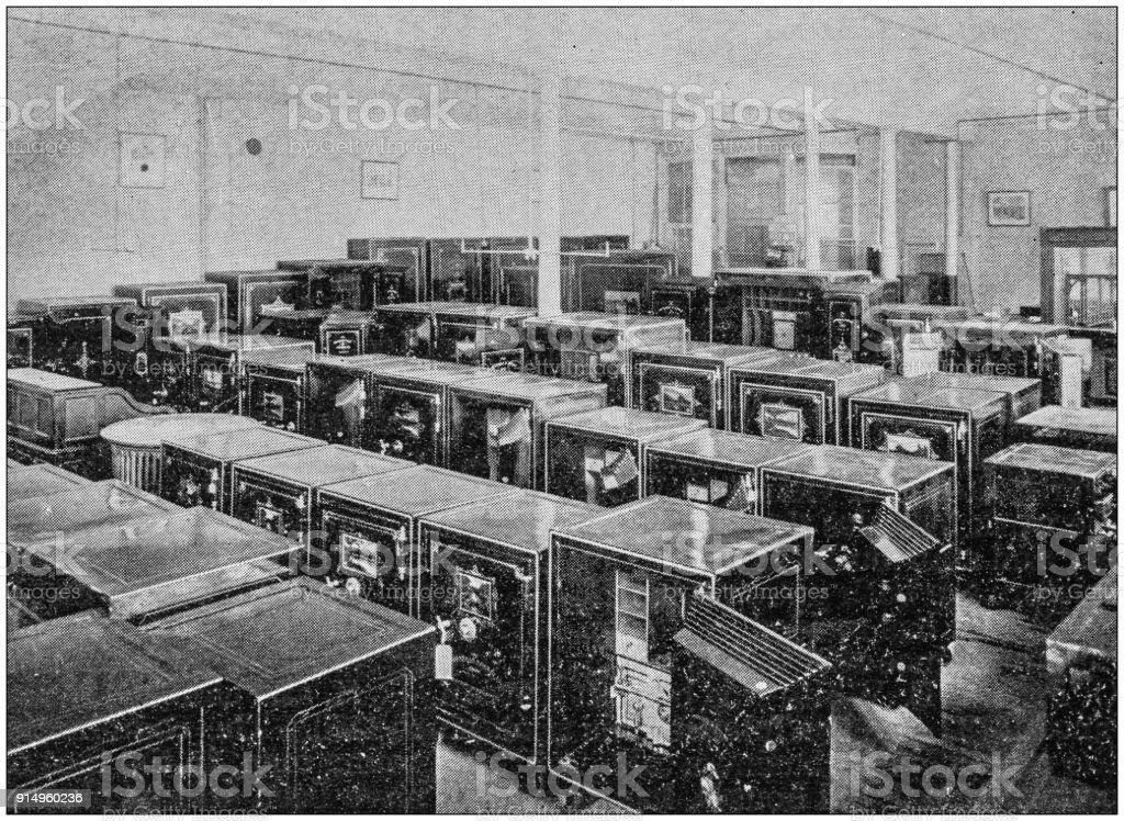 Antique photograph of Boston, Massachusetts, USA: Safes stock photo