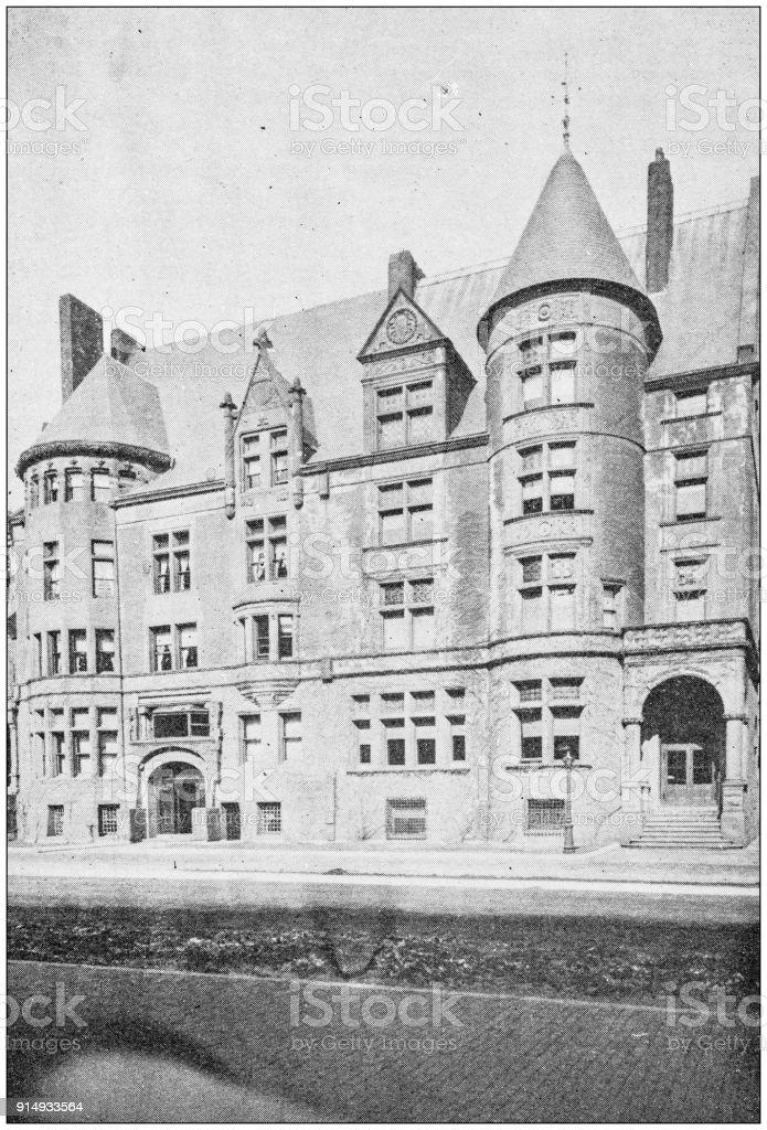 Antique photograph of Boston, Massachusetts, USA: University Club stock photo