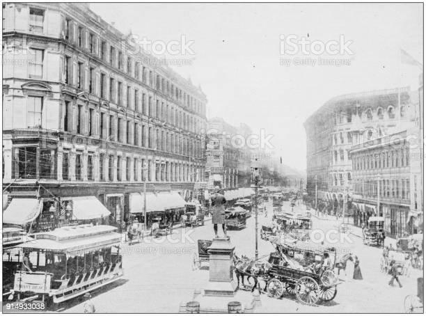 Antique photograph of Boston, Massachusetts, USA: Washington Street