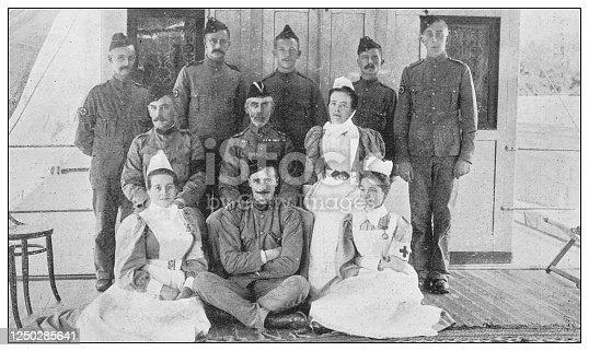 Antique photograph of British Navy and Army: Khartoum