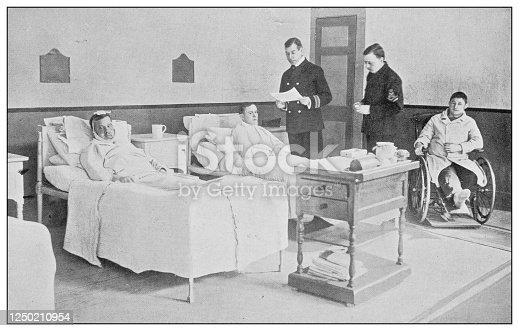 Antique photograph of British Navy and Army: Royal Naval Hospital, Chatham