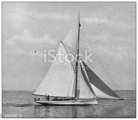 Antique photograph of British Navy and Army: Sailing regatta