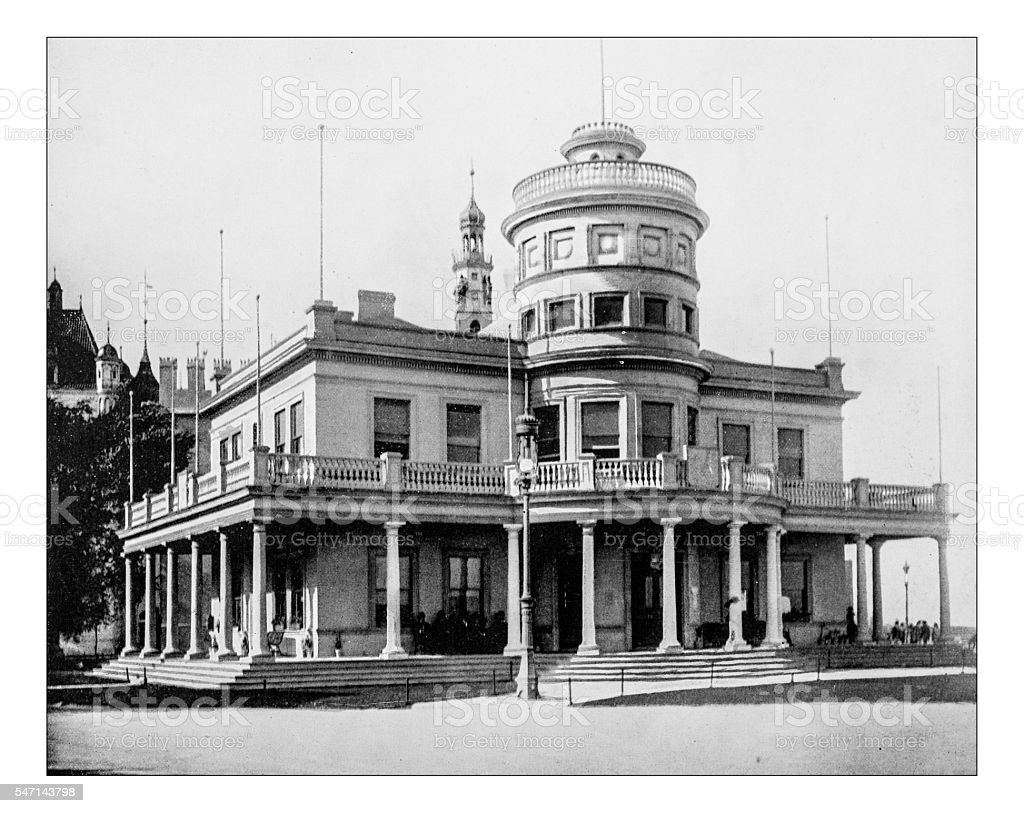 Antique photograph of Canadian building (World's Columbian Exposition, Chicago-USA, 1893) - Photo