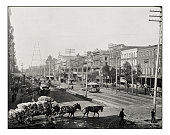 Antique photograph of Canal Street, New Orleans