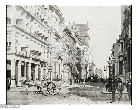 Antique photograph of Chestnut Street, Philadelphia