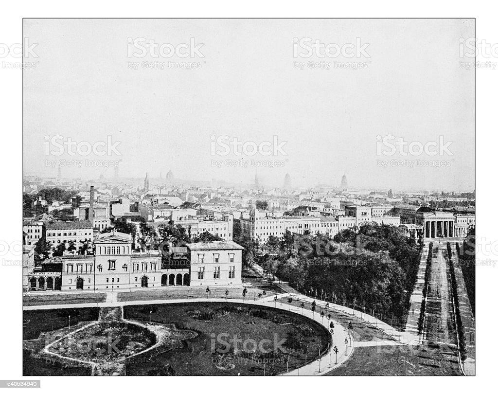 Antike Fotografie der Skyline von Berlin (Deutschland) -19th Jahrhundert – Foto