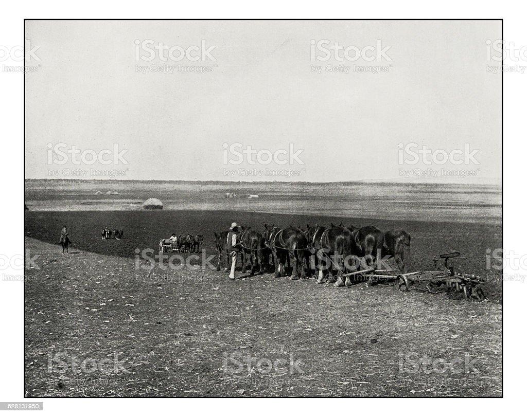 Antique photograph of Green Hills farm near Warwick stock photo