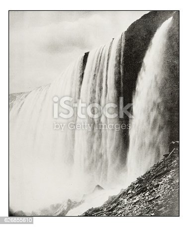 Antique photograph of Horseshoe Fall