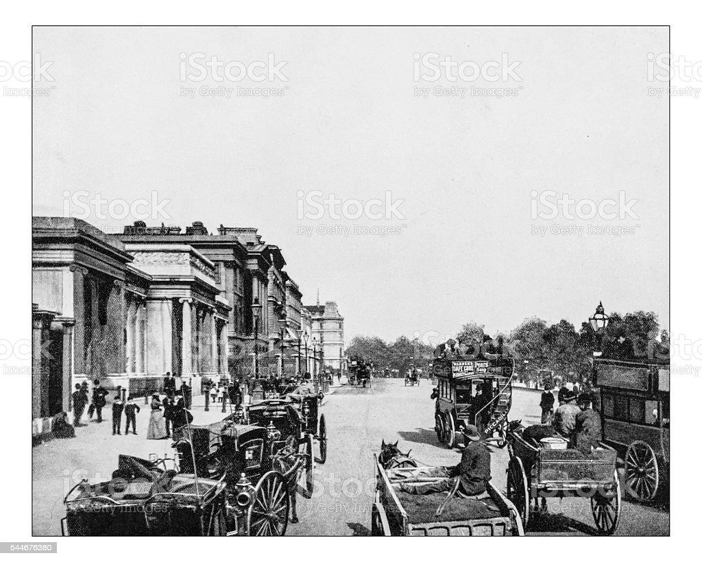 Antique photograph of Hyde Park corner (London, England)-19th century stock photo