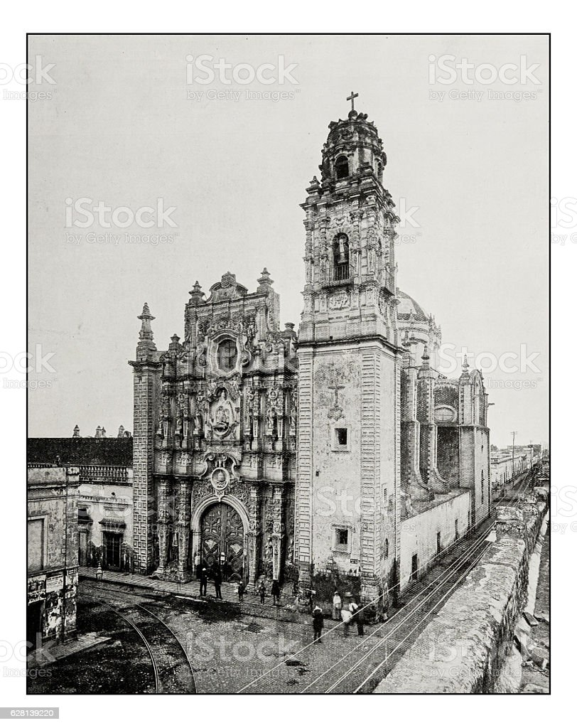 Antique photograph of La Santissima, Mexico City stock photo