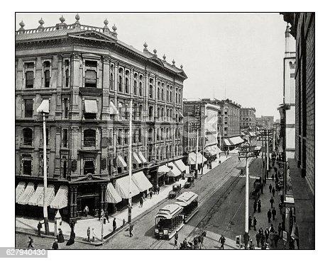 Antique photograph of Laimer Street, Denver