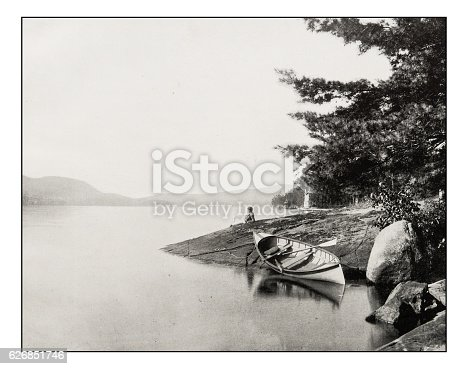 Antique photograph of Lake George
