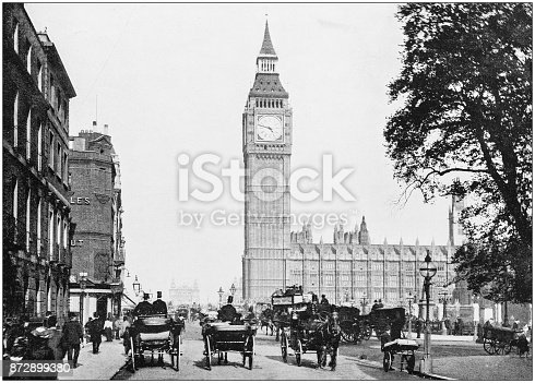 Antique photograph of London: Bridge Street, Westminster