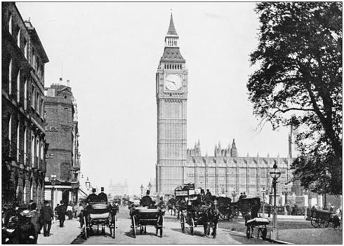 Antique photograph of London: Bridge Street, Westminster