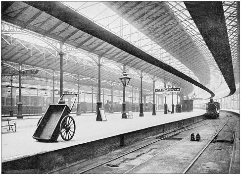 Antique photograph of London: Euston station