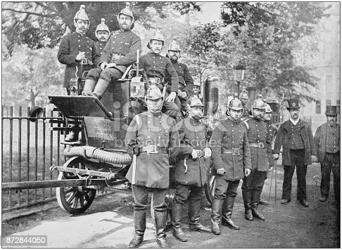 Antique photograph of London: Fire Brigade